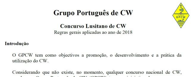 Concurso Lusitano de CW